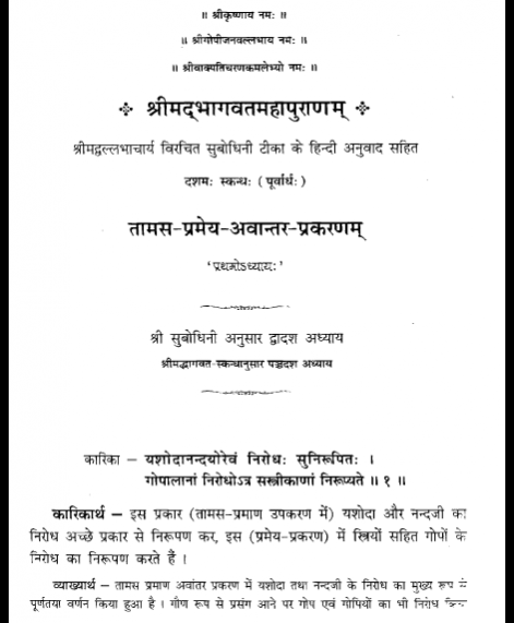 Shri Subodhiniji  Skandh 10  Tamas Pramey Prakran (1037)