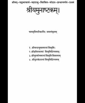 Yamunashtakam (1066)